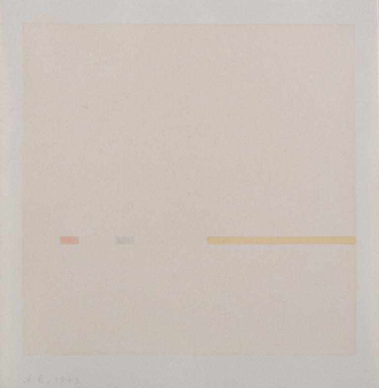 Antonio Calderara, Le quattro stagioni – omaggio a Antonio Vivaldi, 1975 serigrafia su carta, 21x 19,5 cm