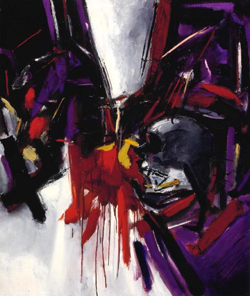 Giuseppe Monguzzi, Omaggio a García Lorca, 1988, olio su tela, 120 x 100 cm.