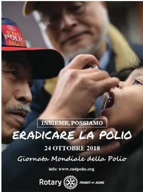volantino  World Polio Day