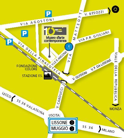 Cartina stradale con l'indicazione di dove si trova il Museo