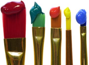 pennelli con colore
