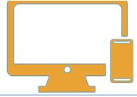 icona stilizzazione schermo e smartphone
