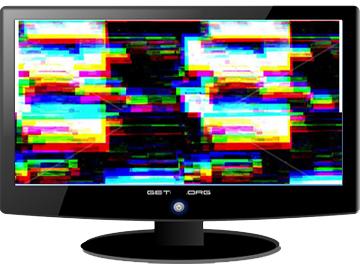 schermo con interferenze