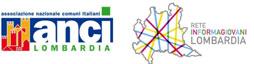 Loghi: Anci Lombardia e Rete Informagiovani Lombardia