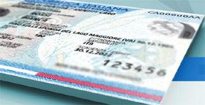 Immagine di una carta identità elettronica