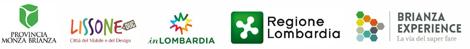 Loghi: Provincia Monza Brianza | Lissone Duc | In LOMBARDIA | Regione Lombardia | Brianza Experience