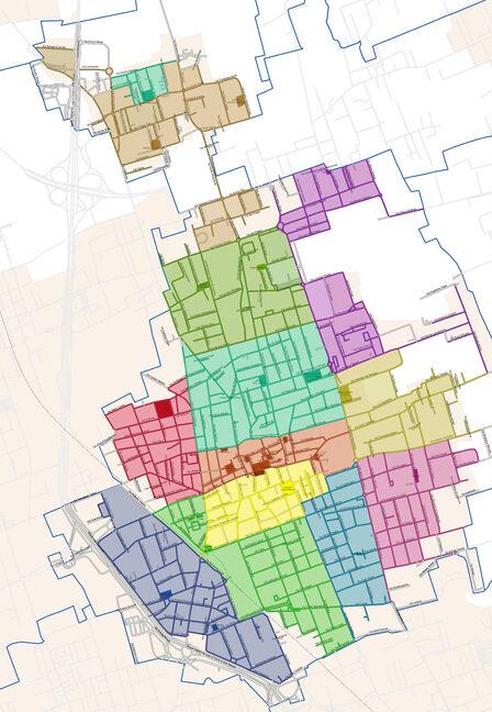 la suddivisione delle zone per lo spazzamento strade sul territorio di Lissone con