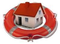 icona casa con salvagente