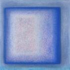 """""""Soglia blu"""", 2019, 200x200 cm"""