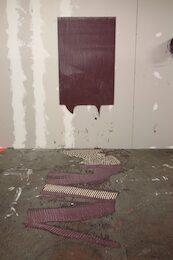 Alexis Harding, Temporary Wet Painting No. 8 (Diptych), 2007, olio e vernice su MDF, 140 x 100 cm.