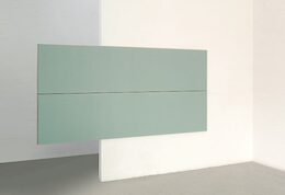 Sean Shanahan, Janet and Horace, 2010, olio su MDF, double face, 340 x 140 x 3 cm.